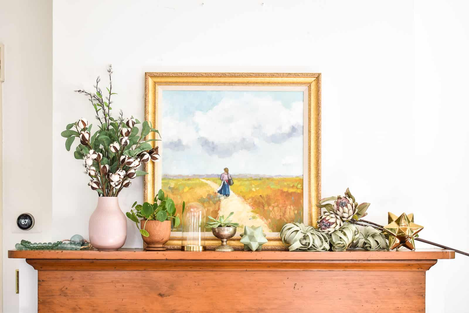 grab everything that fits the mantel's scheme