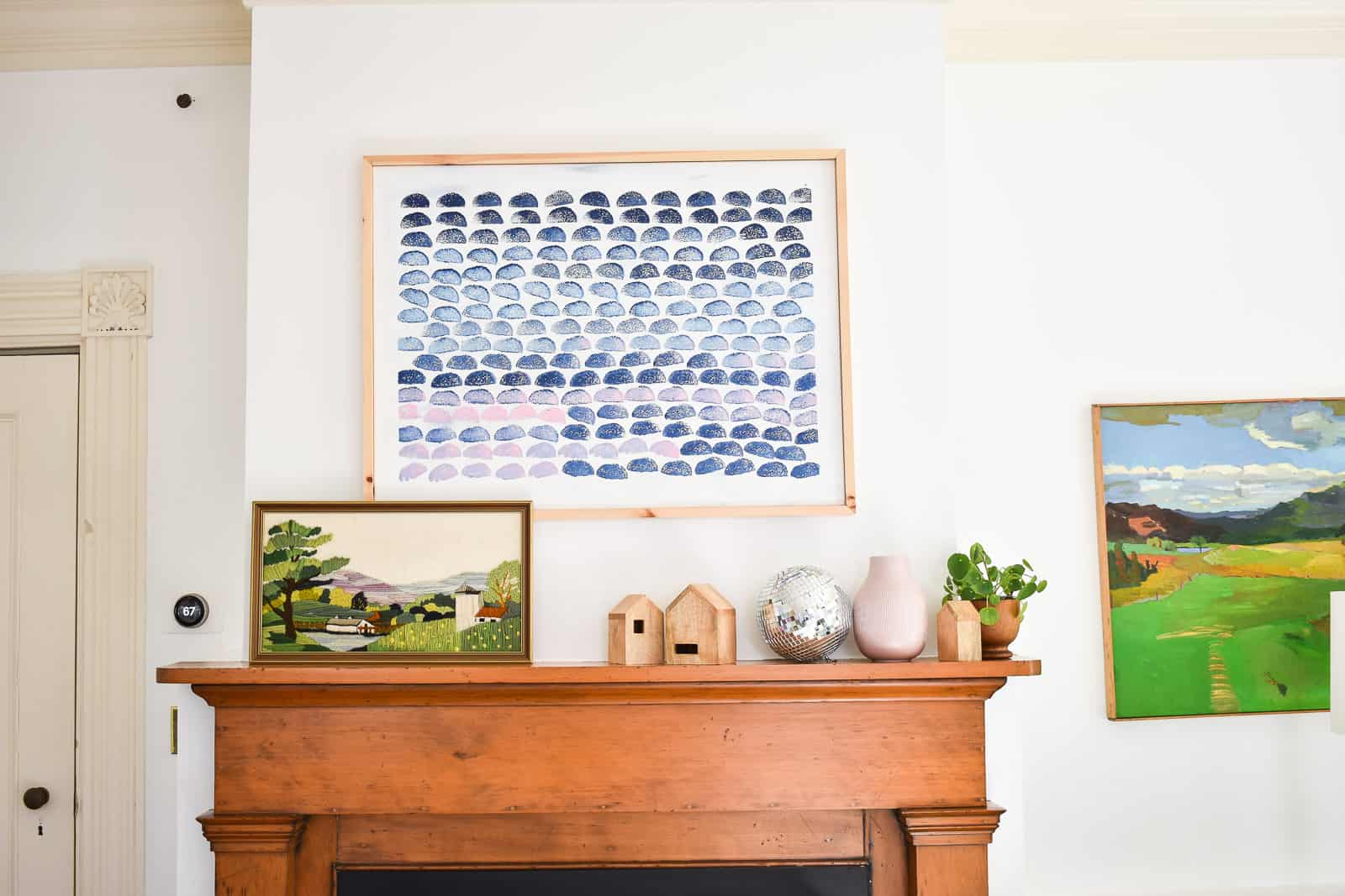leaning artwork and items that match