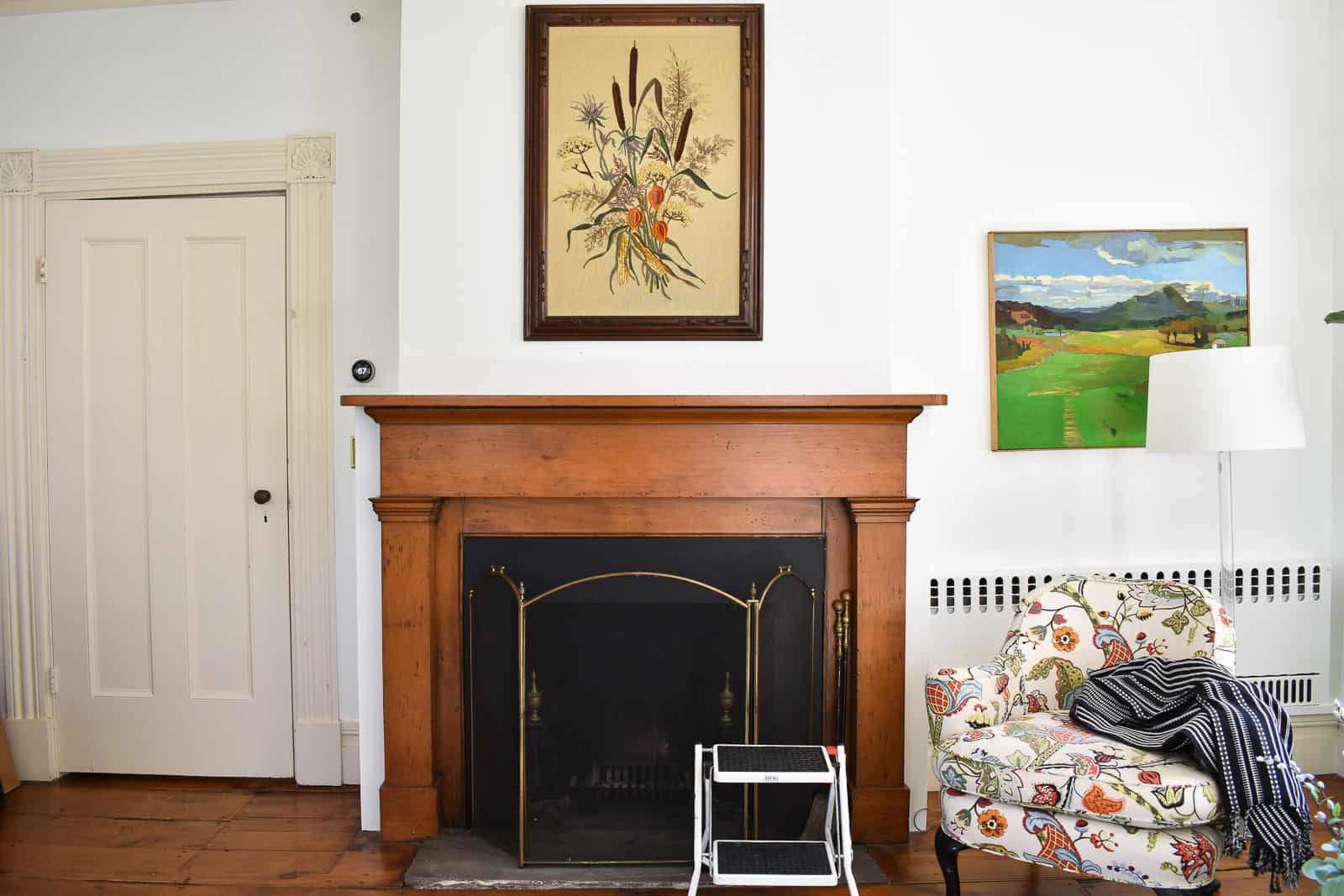 find a focal point for your mantal