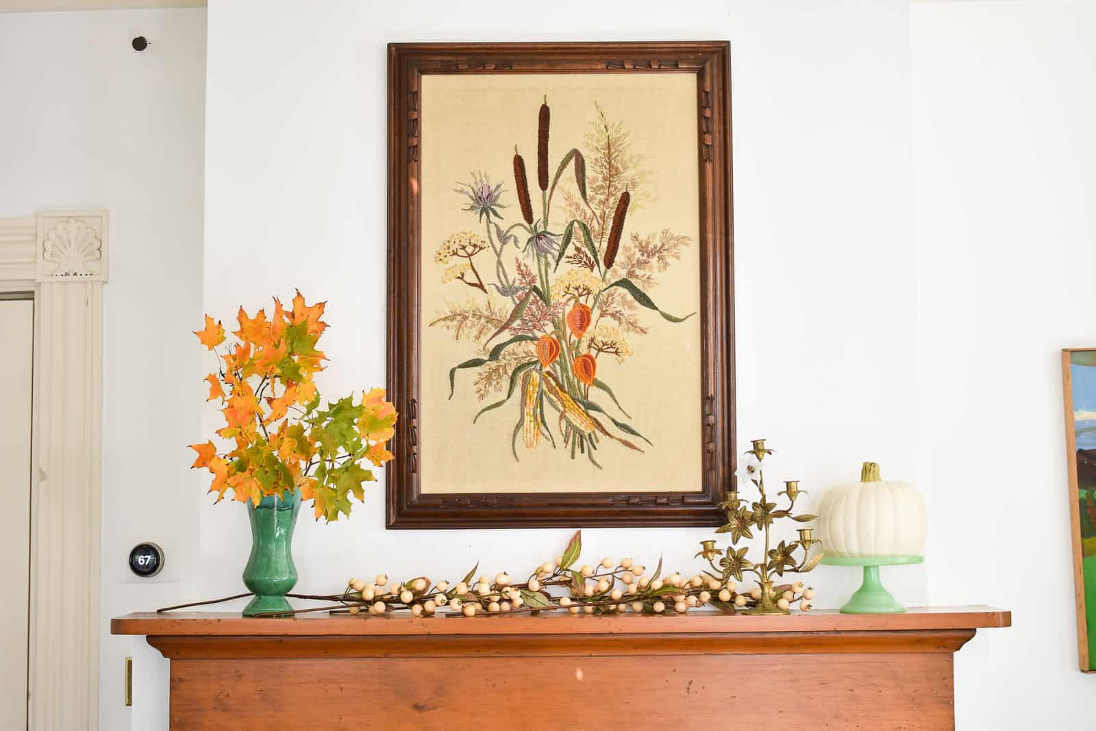 finding the right balance on your mantel