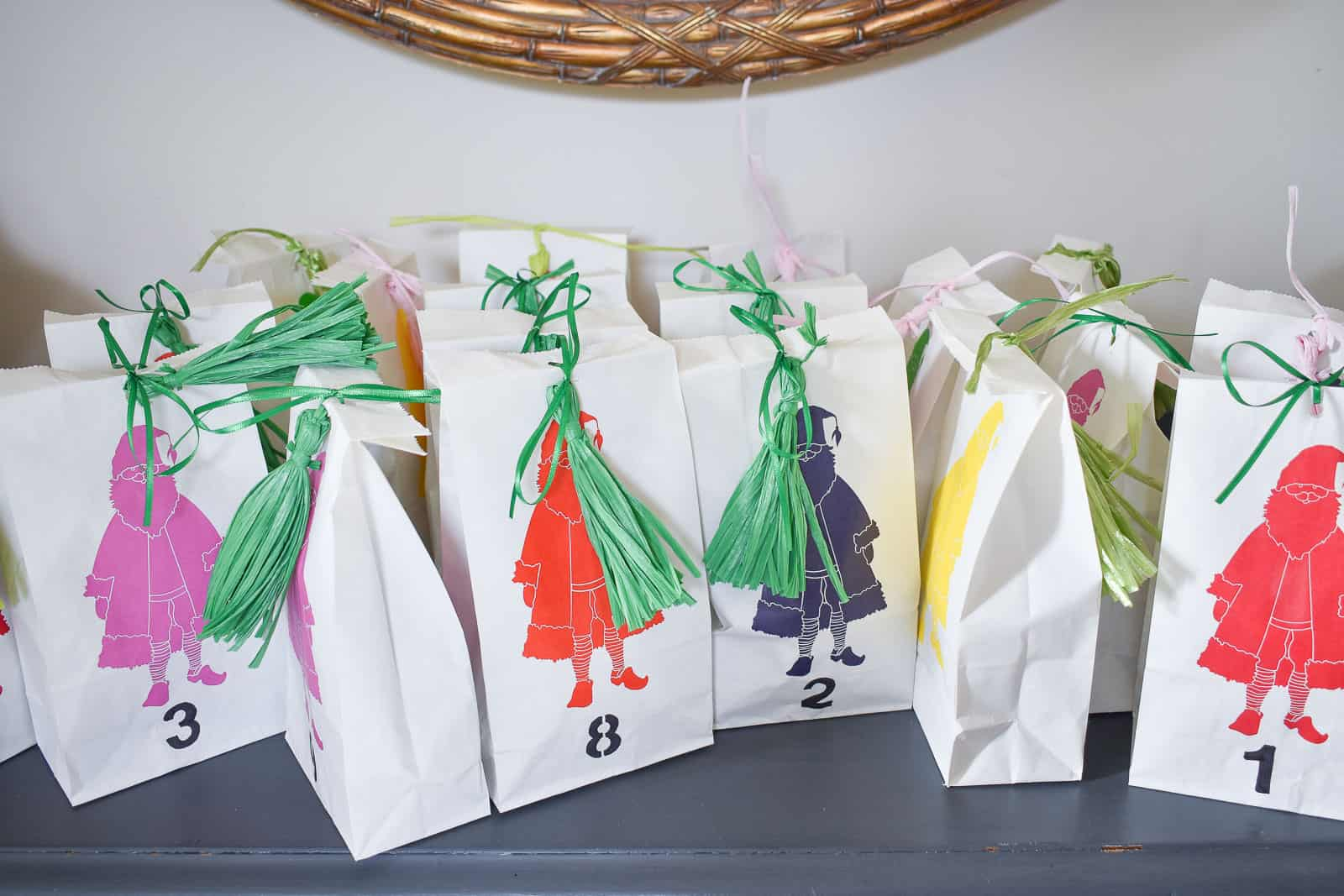 advent bags for tree