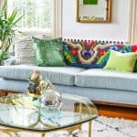 green pillows to decorate for both thanksgiving and christmas