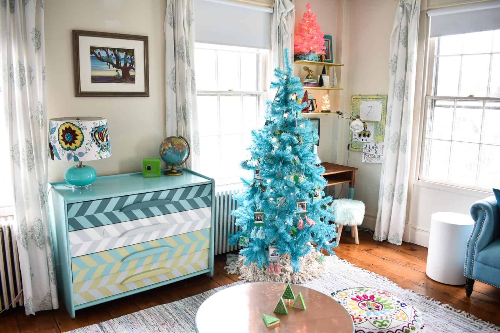 kids room with christmas decor