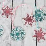 clear acrylic snowflake ornaments