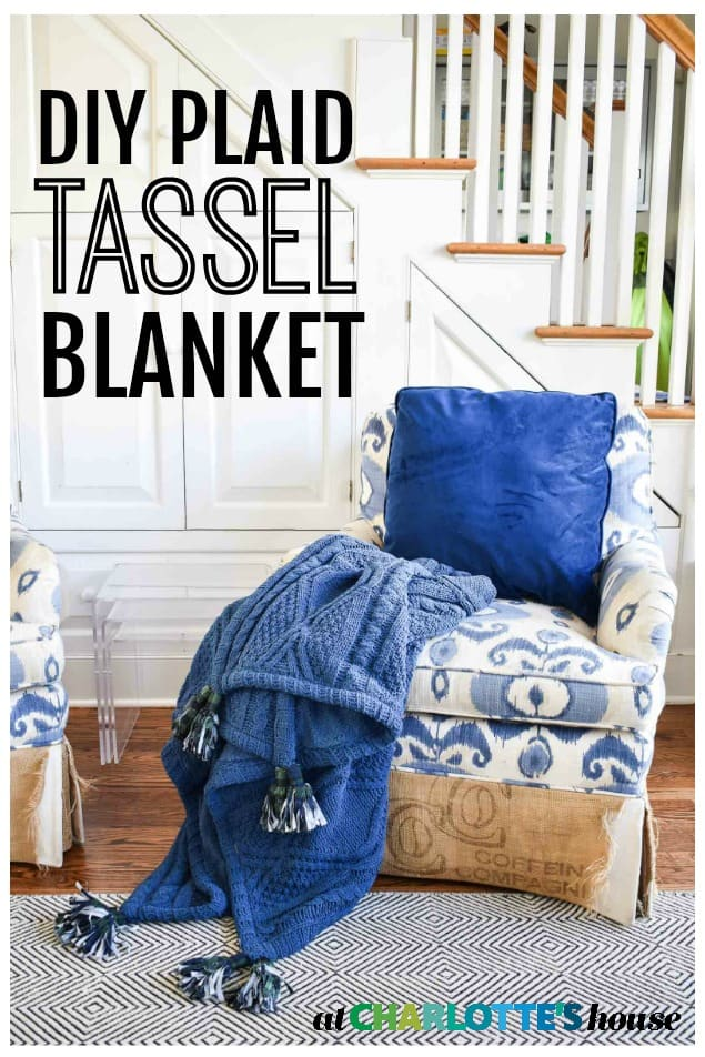 DIY plaid tassel blanket