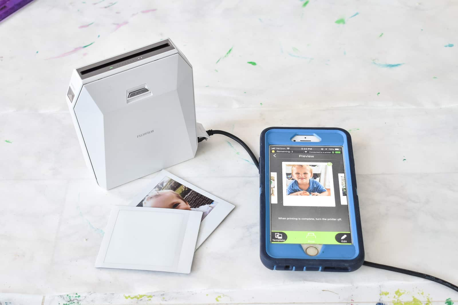 print out Images on Instax SP-3 Share