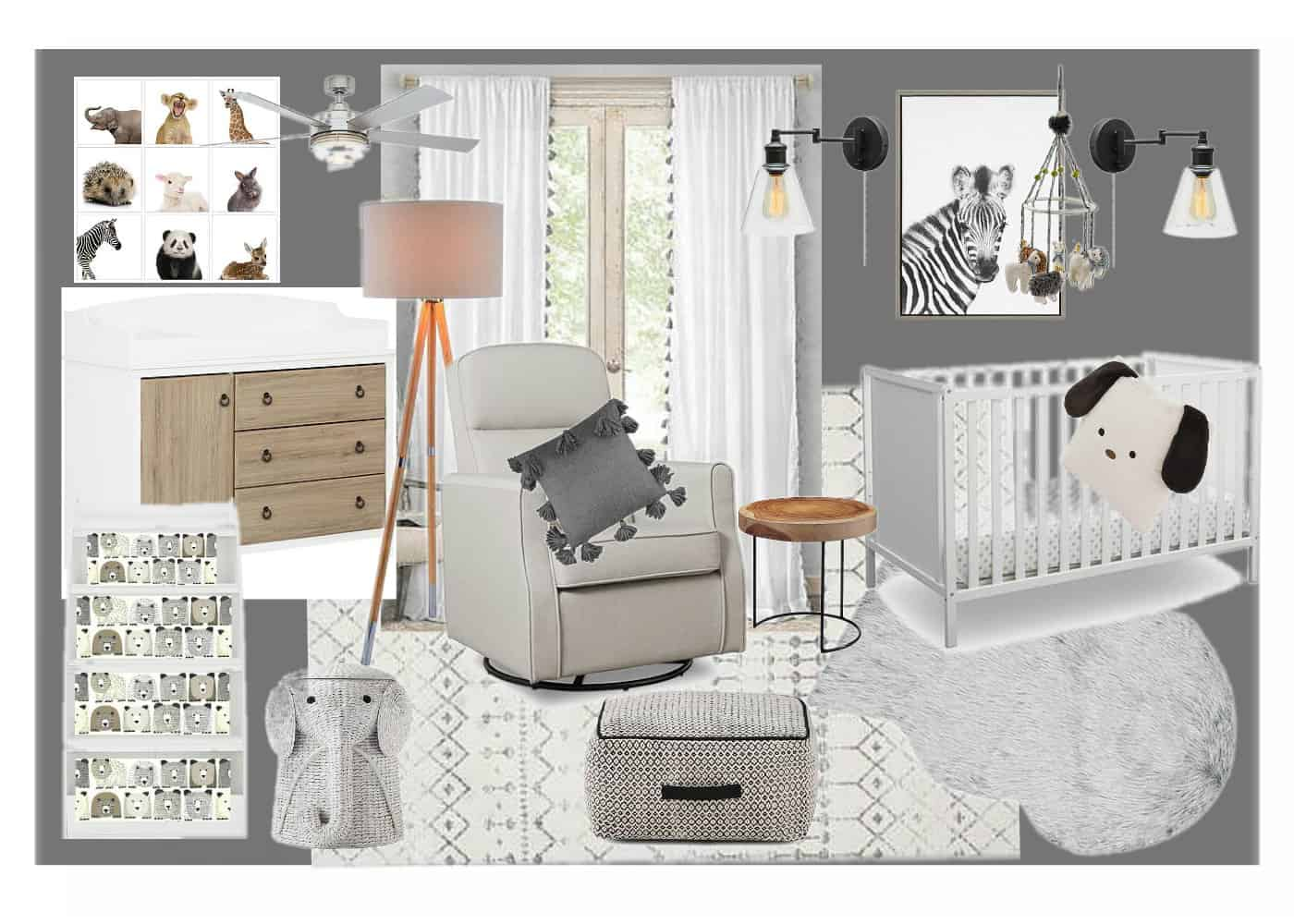 vision board for boys nursery