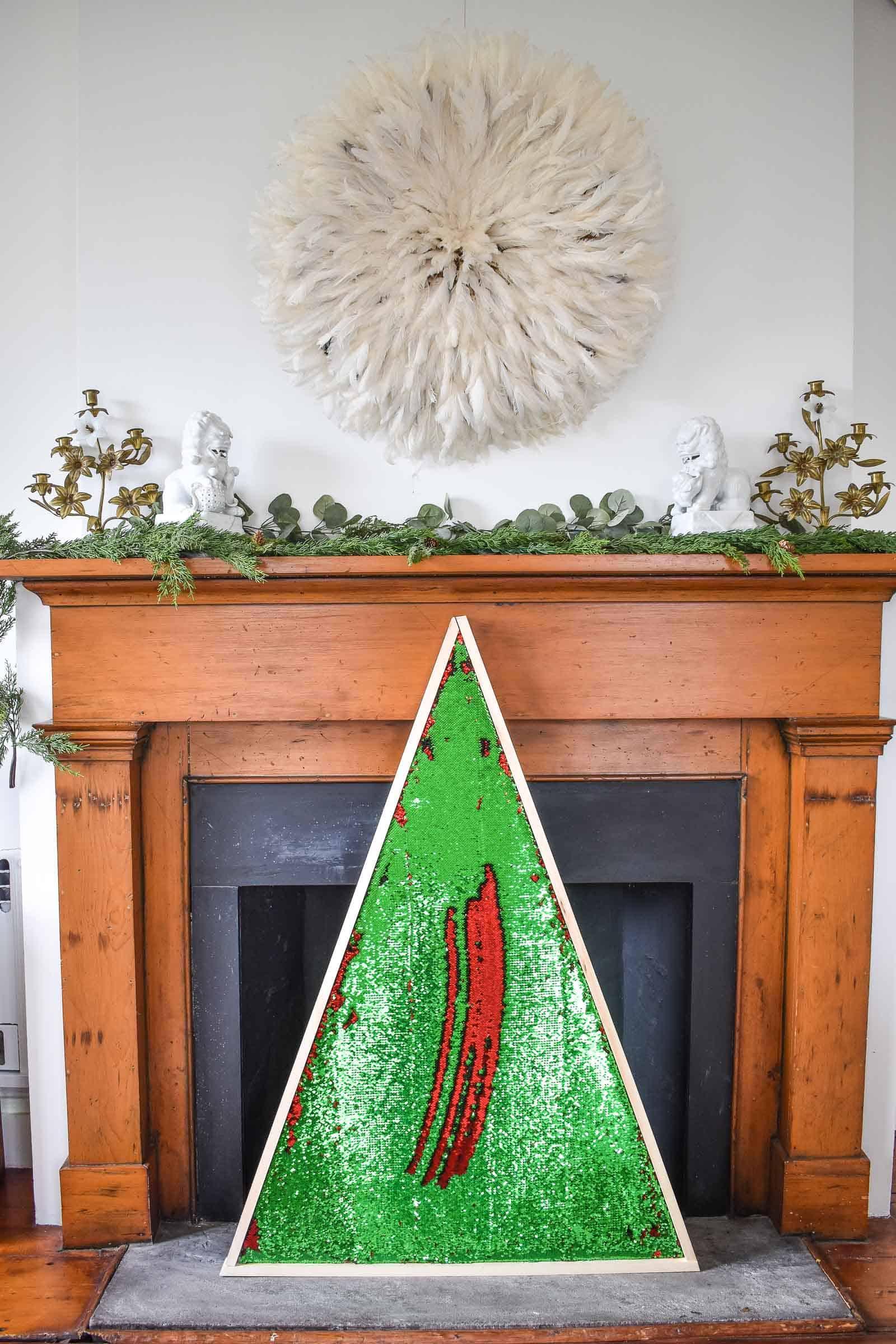 mermaid sequin tree for christmas
