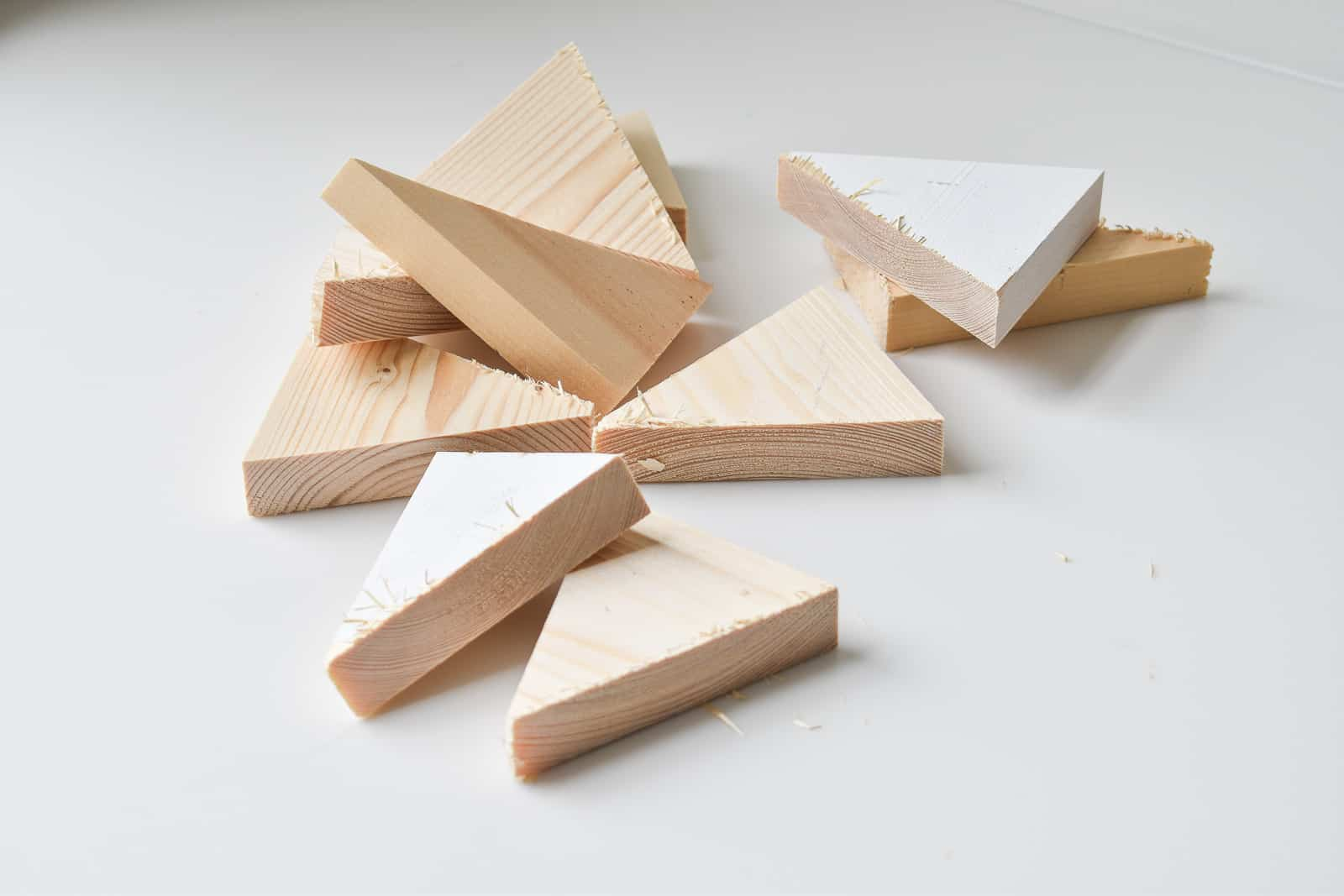 scrap wood triangles trees