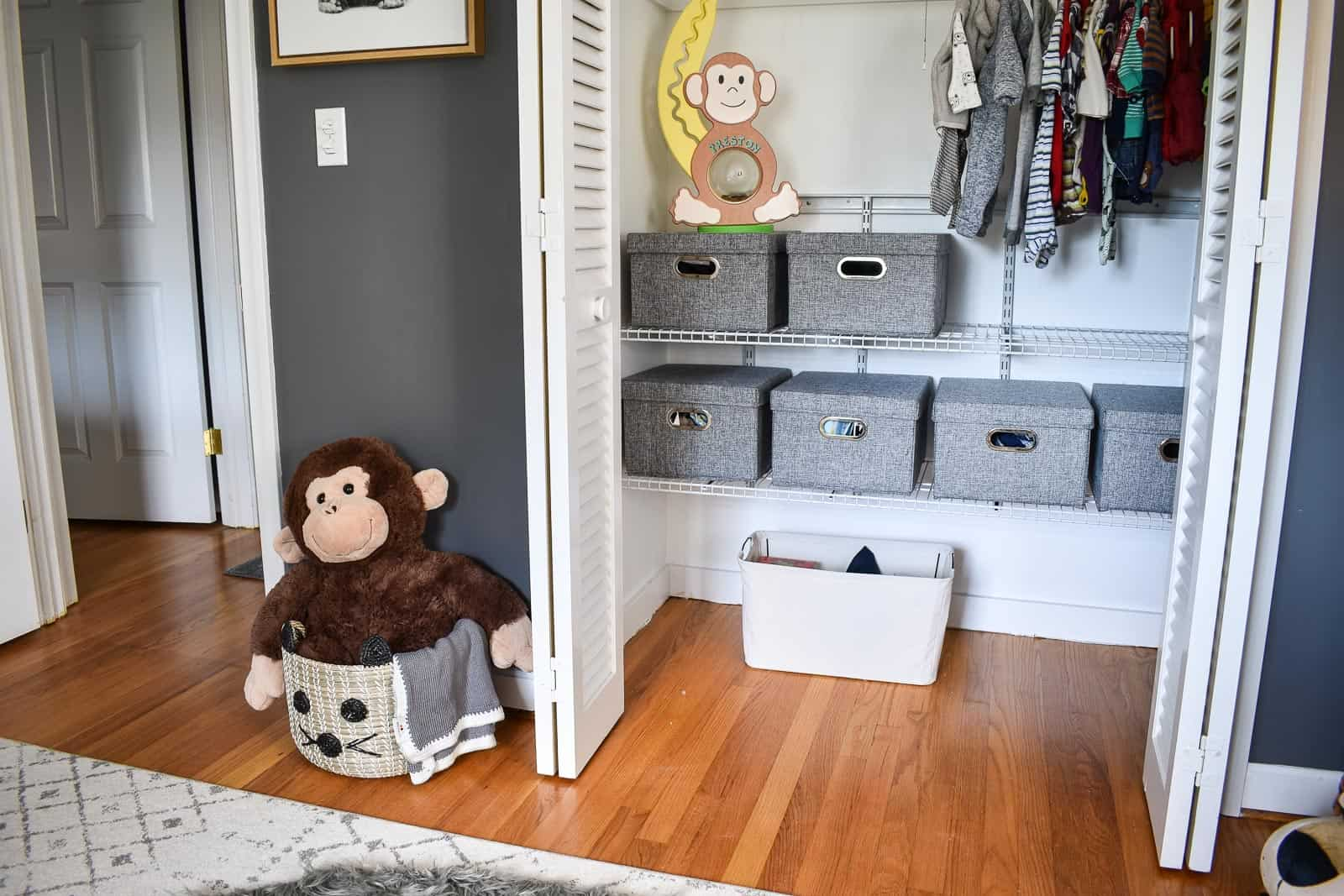 closet storage for nursery