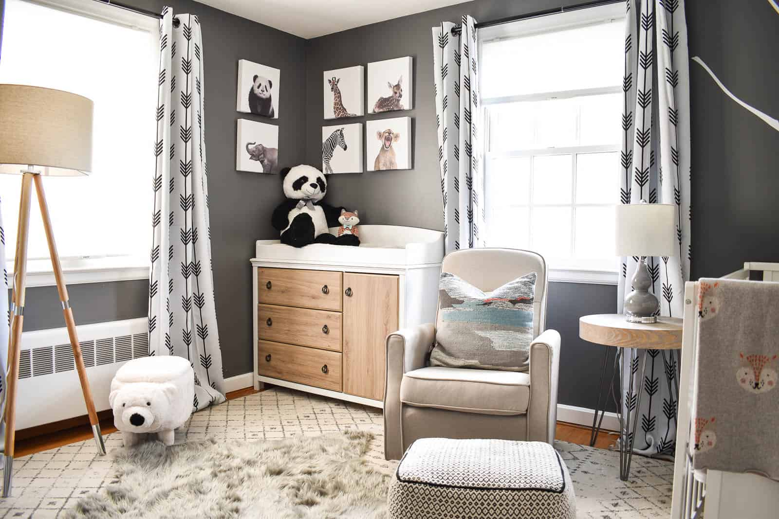 Gray And White Nursery Reveal At Charlotte S House