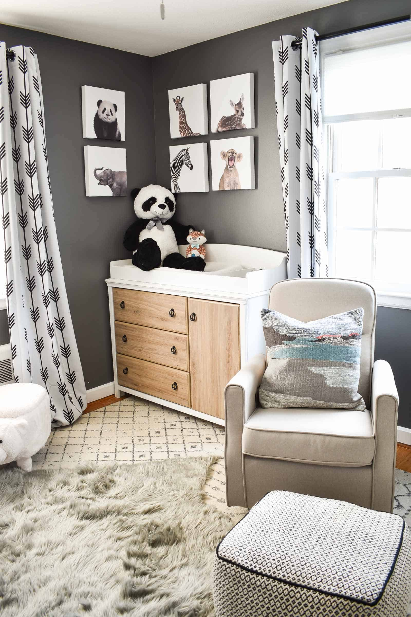 lush rugs in boys nursery