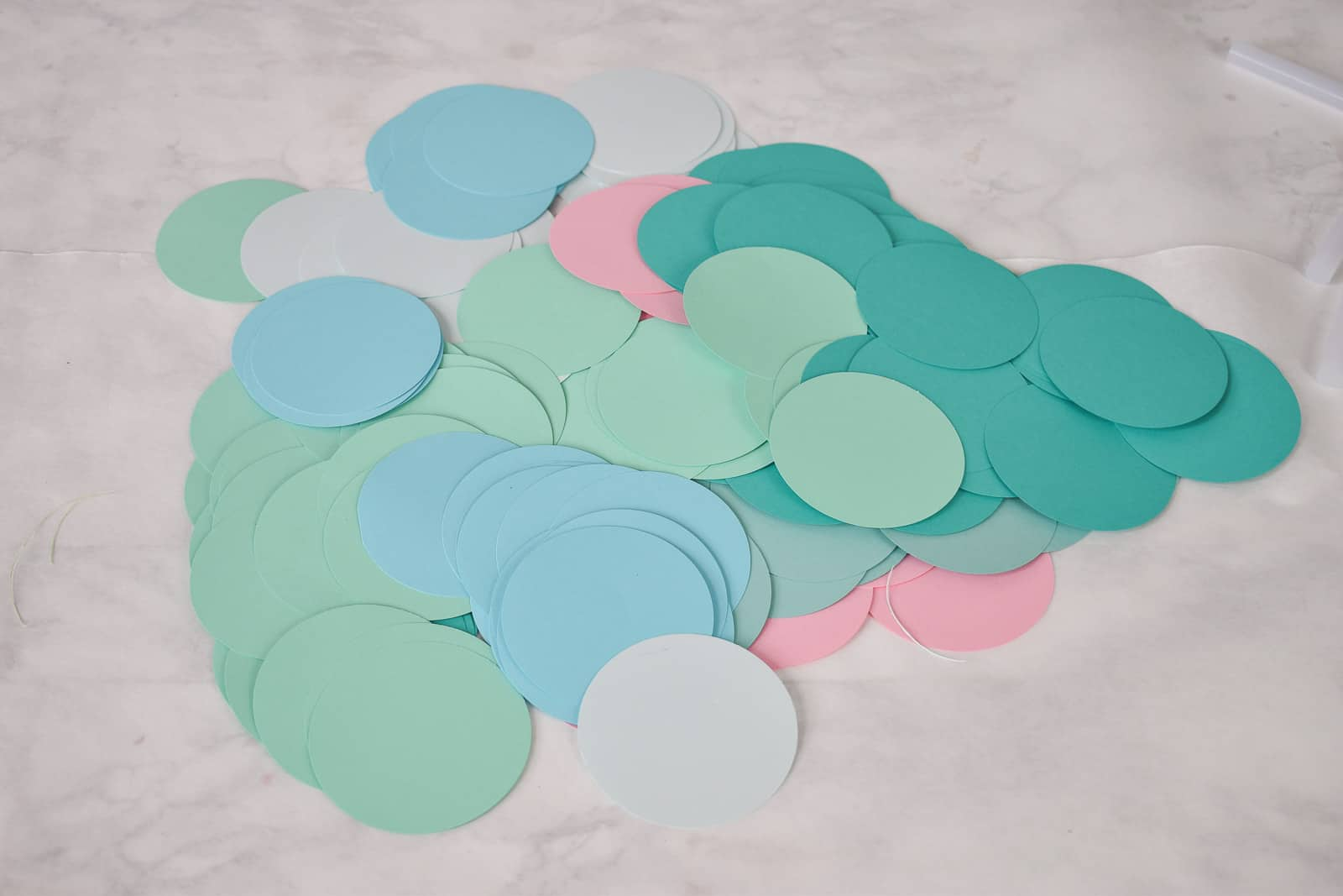 cut out paper circles