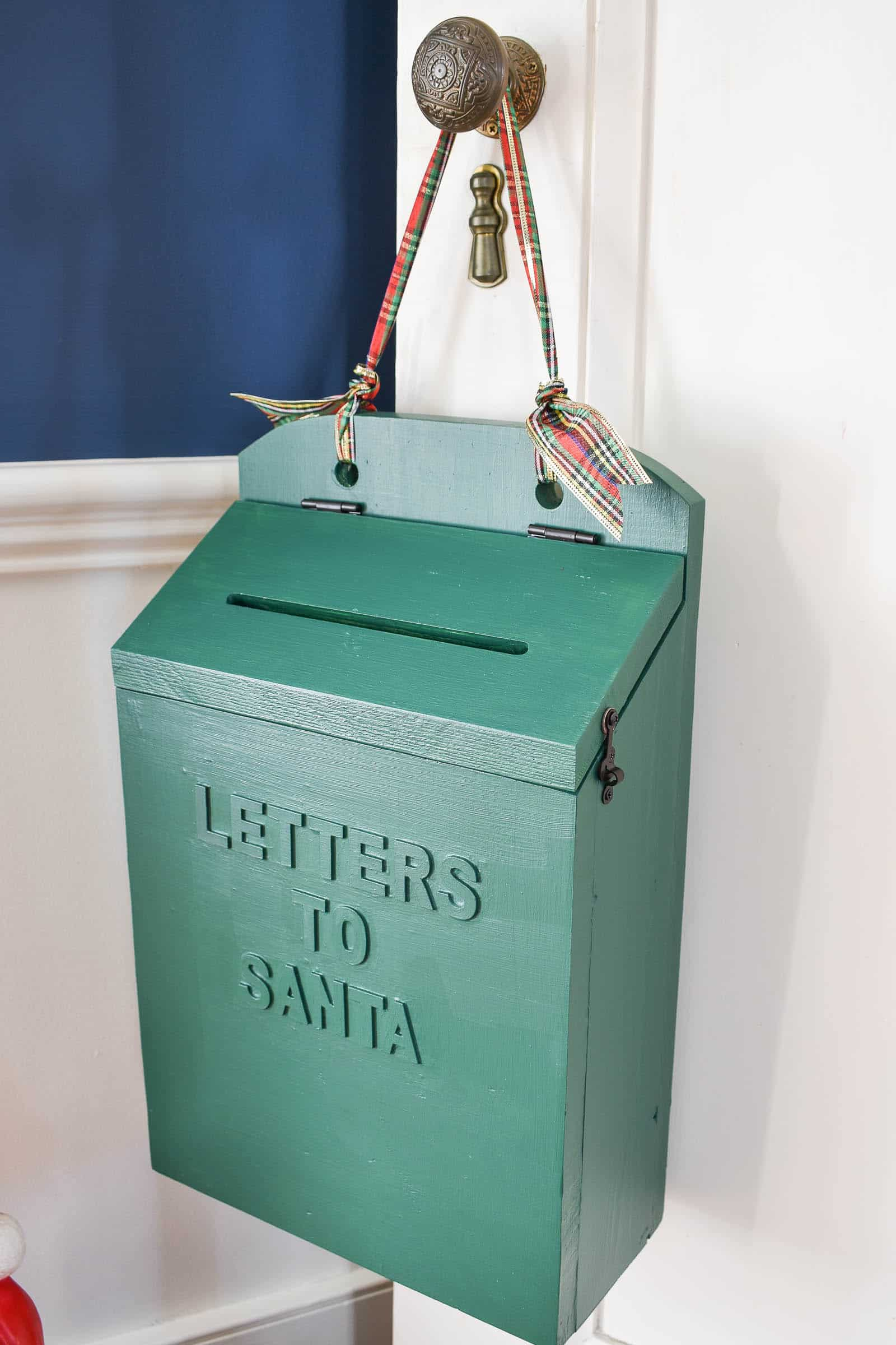 wooden diy mailbox for letters to santa