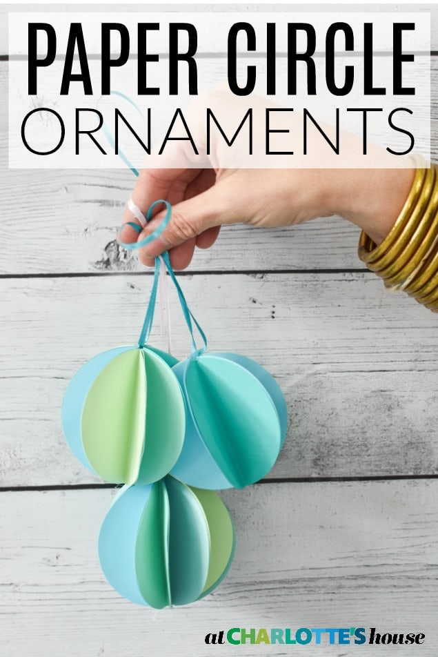 diy paper circle ornaments