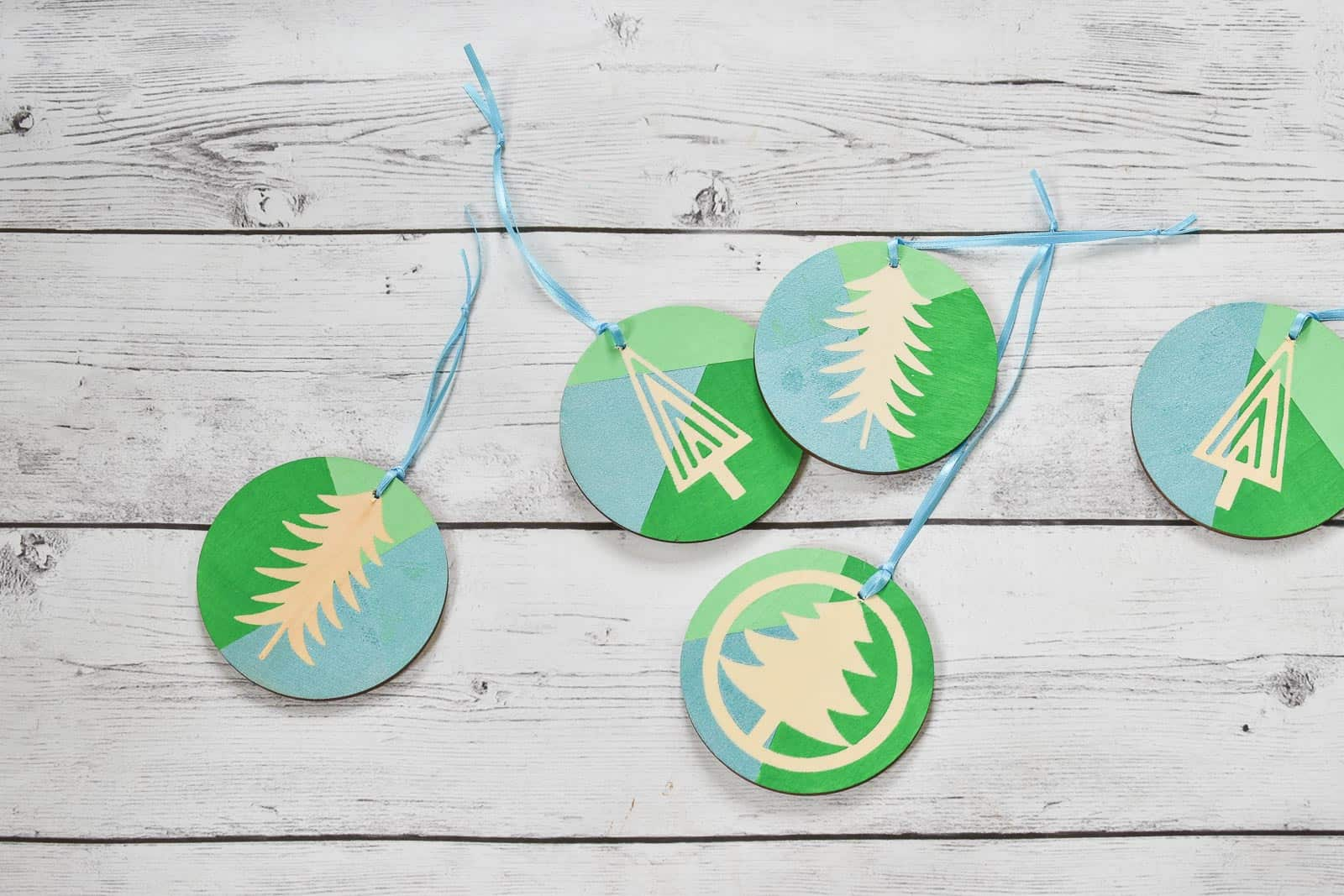 Block print DIY ornaments