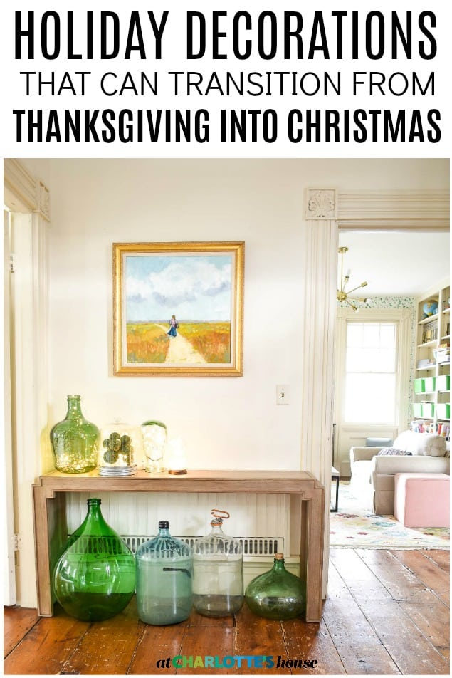 transitional holiday decor