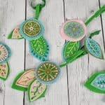 floral felt ornaments