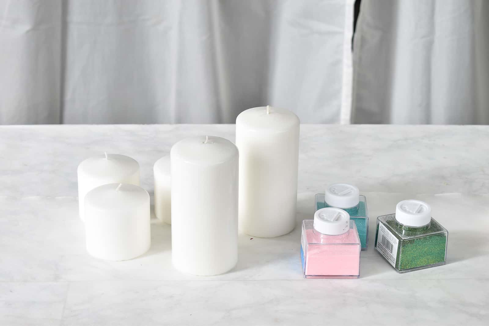 materials for candle makeover