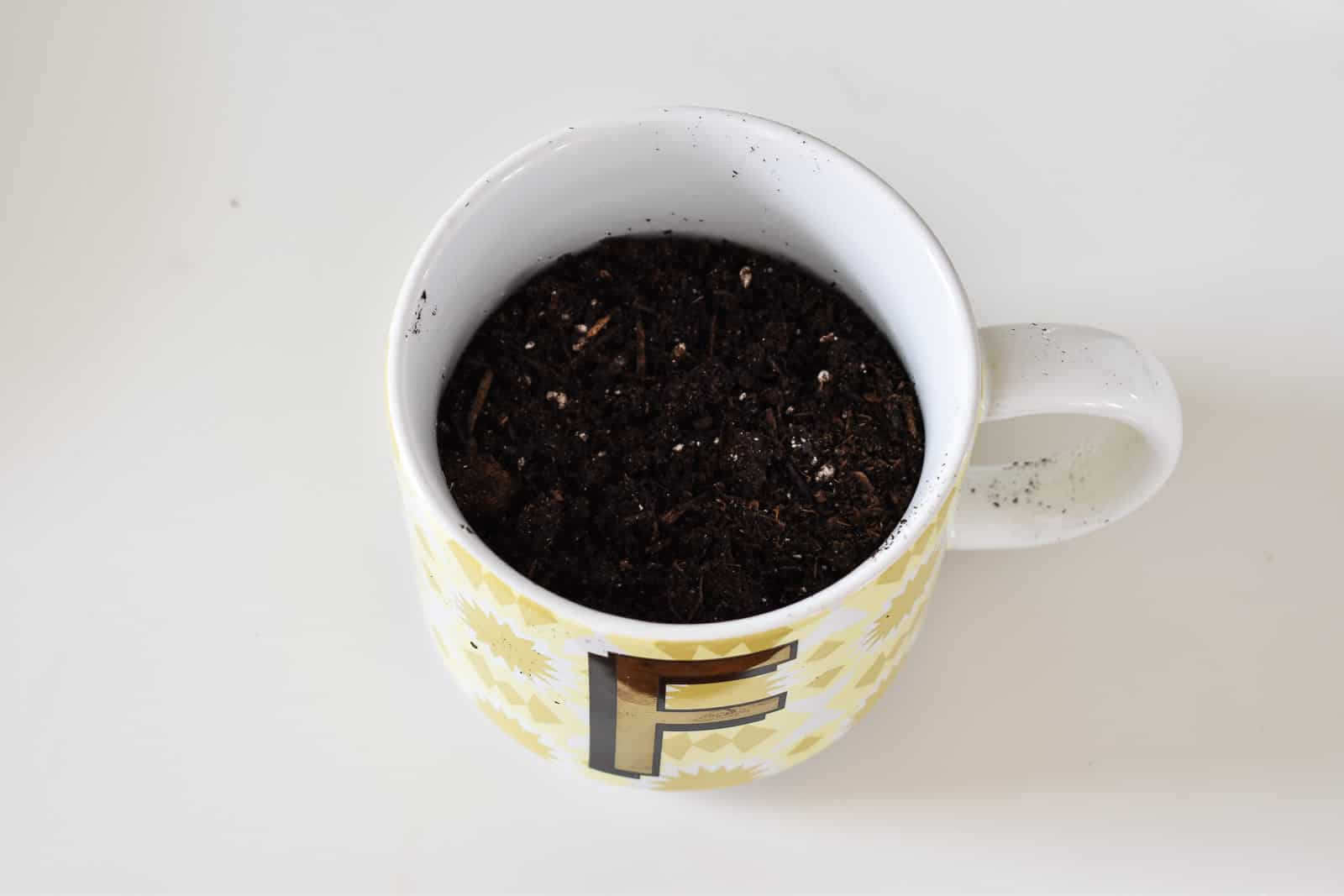 add dirt to mug