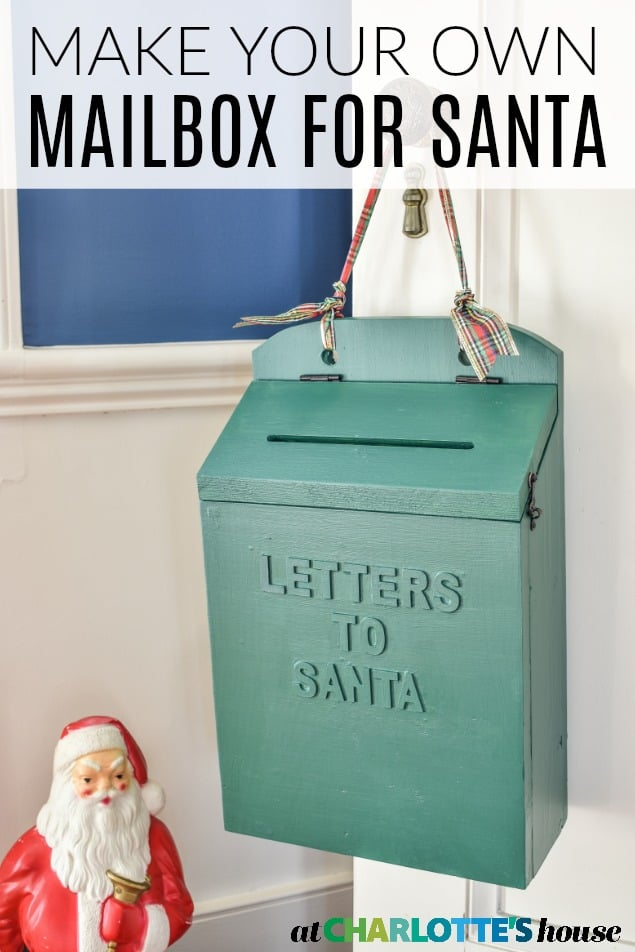 wooden letters to santa mailbox