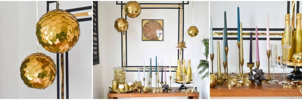 DIY Gold New Years Eve Decorations