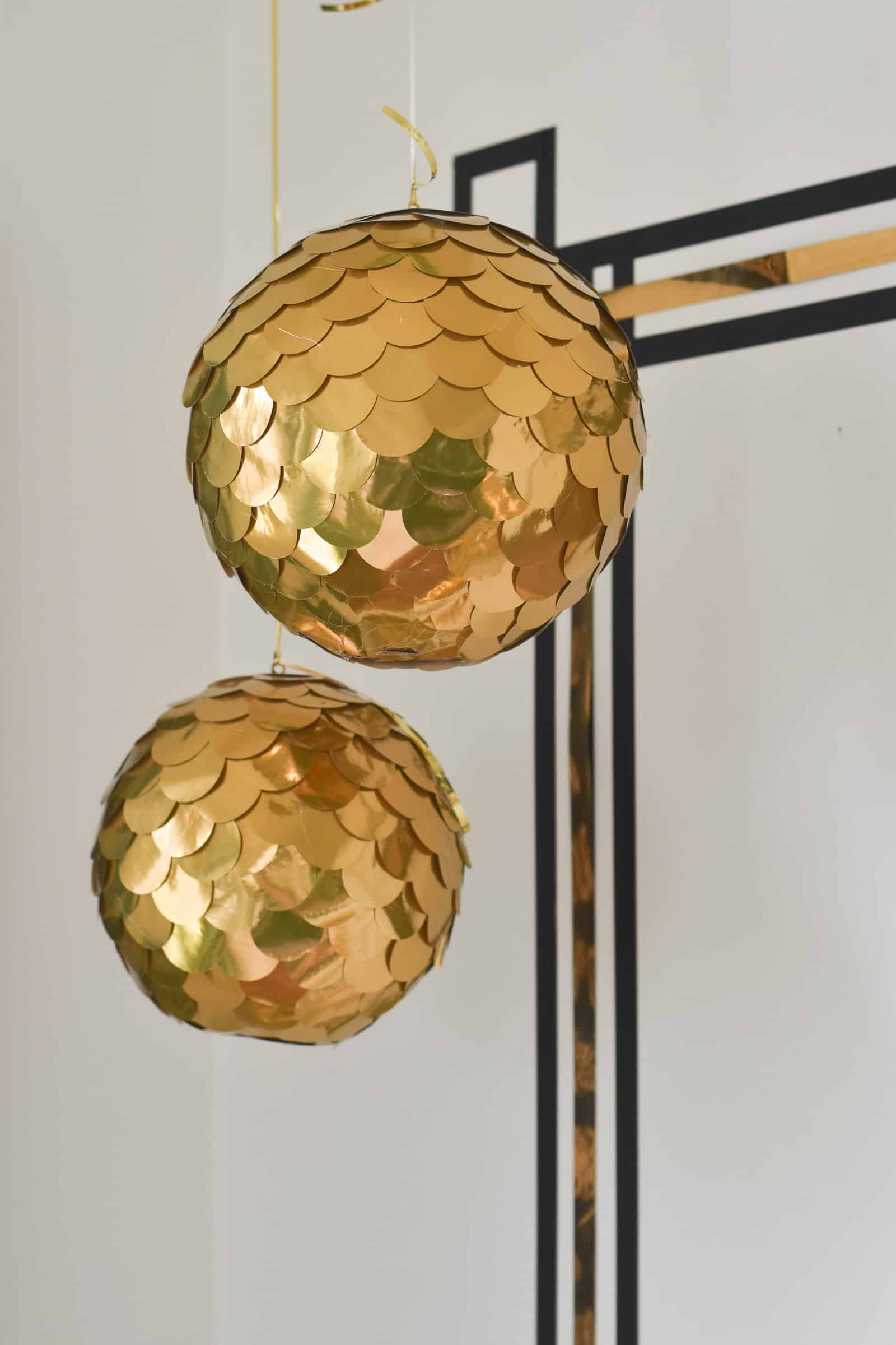 diy gold disco balls