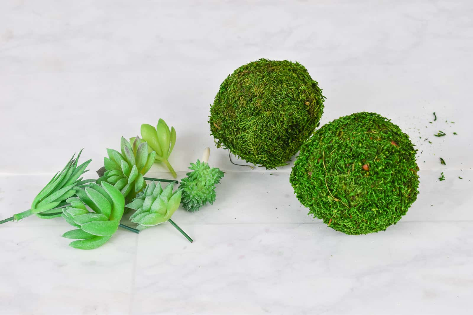 moss ball ornaments