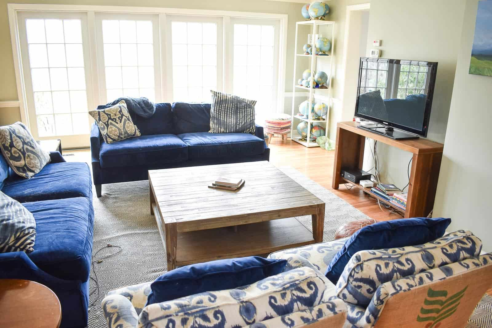 new family room in rental house