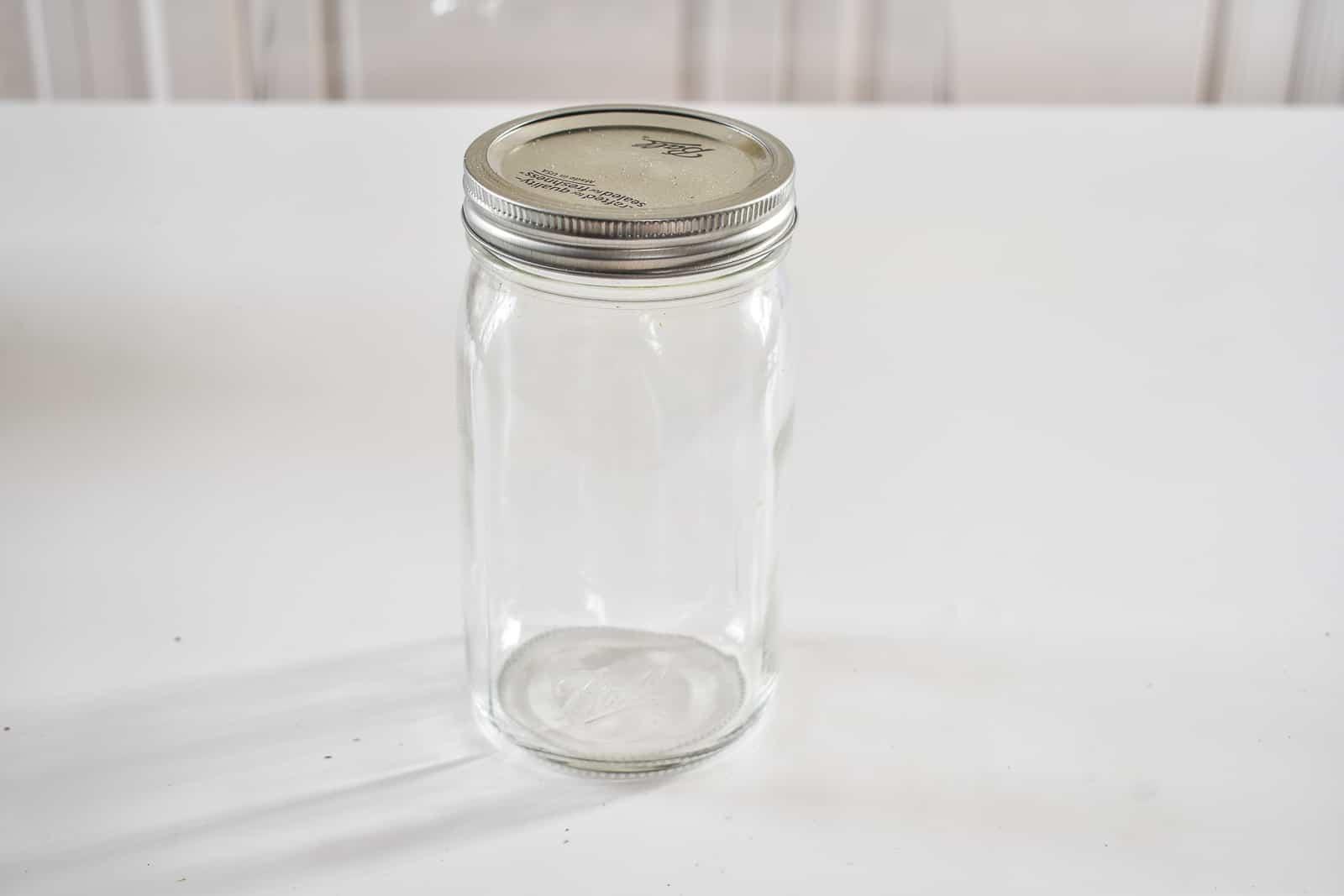 start with a mason jar