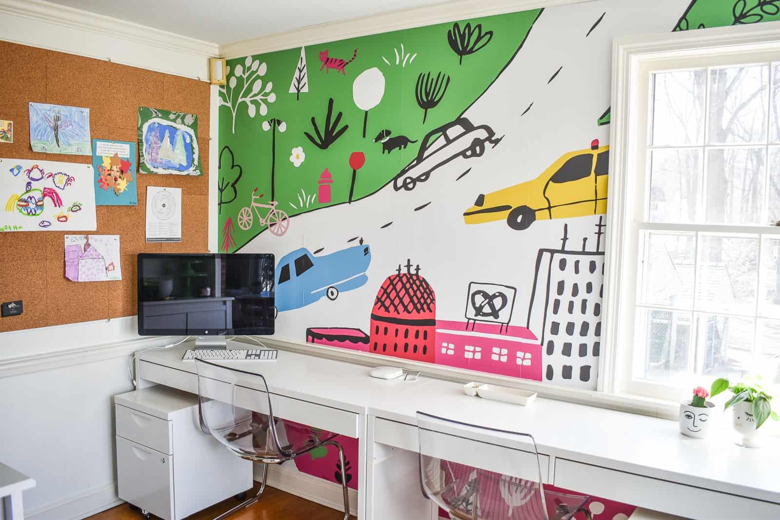mural in homework statin