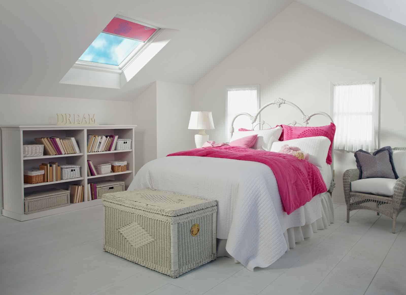 pink skylight blinds