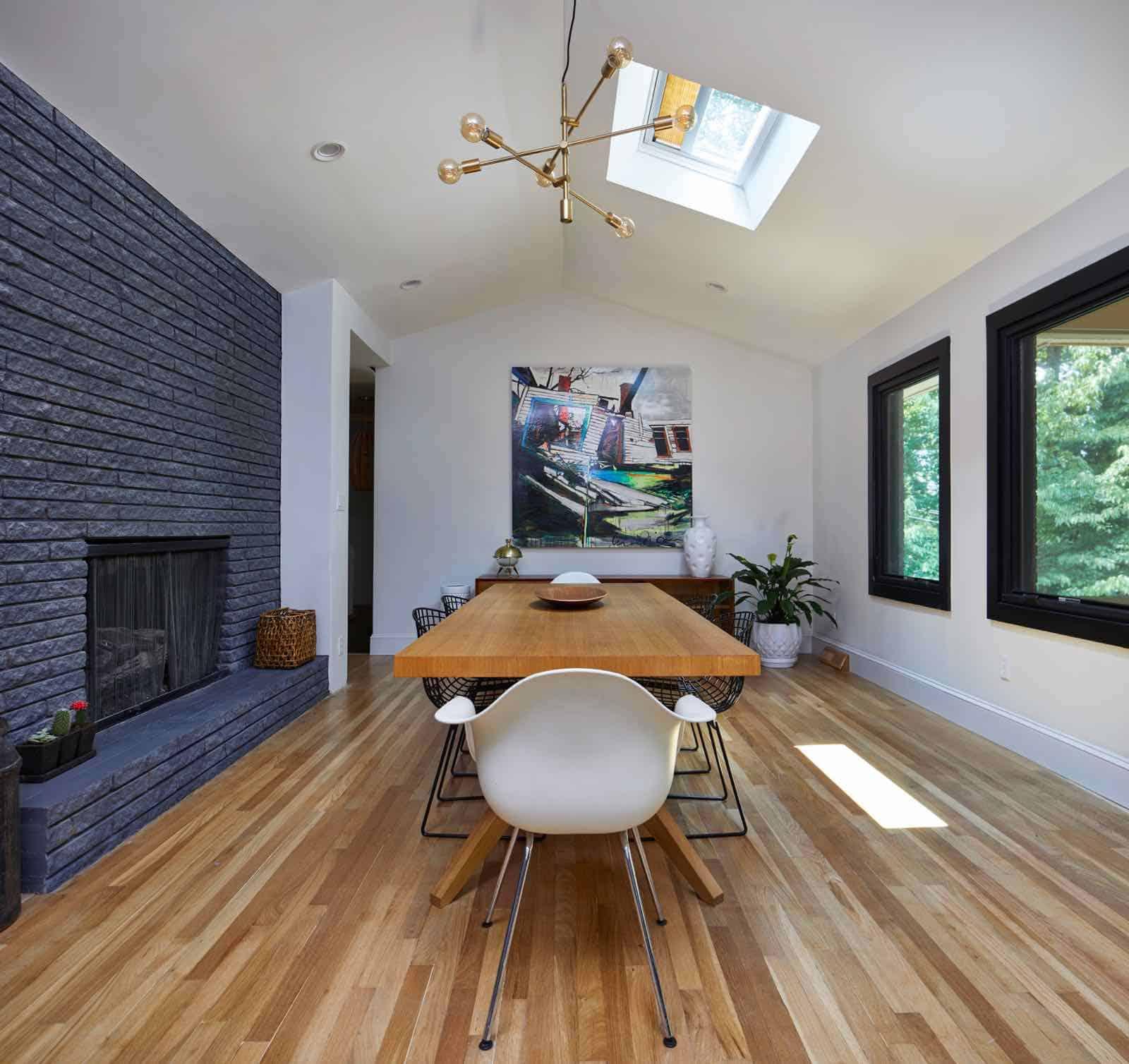 skylights in dining room