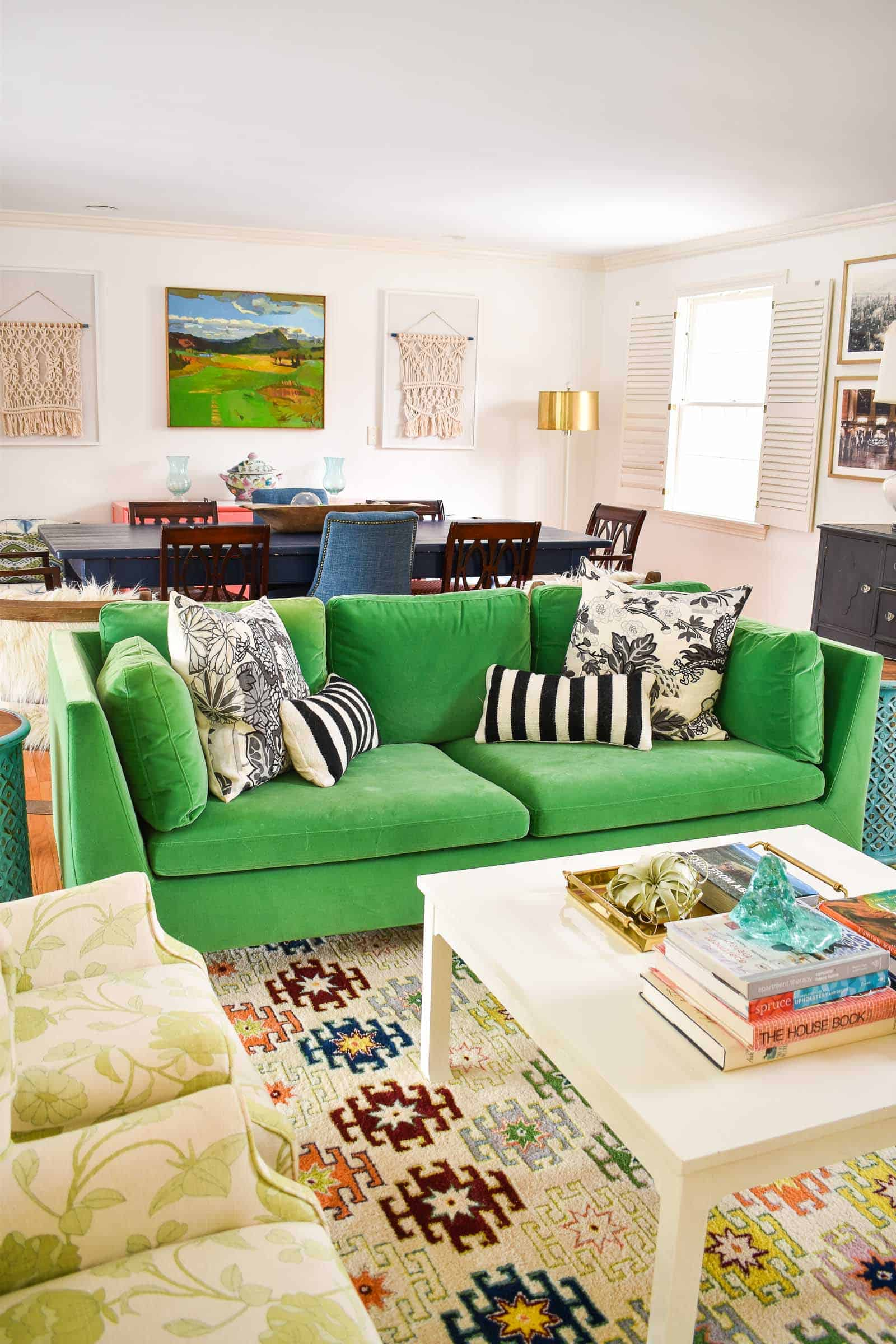 Colorful Living Room Reveal - At Charlotte\'s House