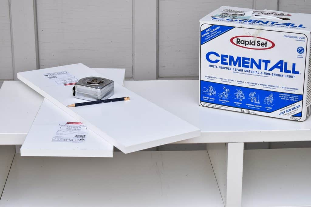 supplies for a concrete candle holder