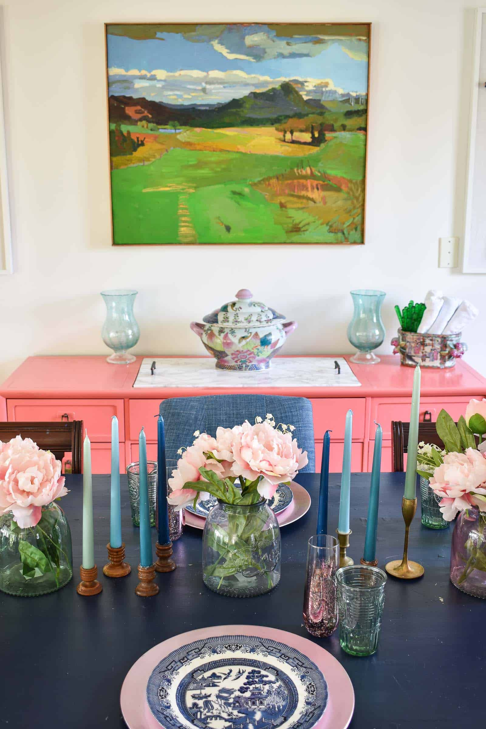 colorful spring table decor