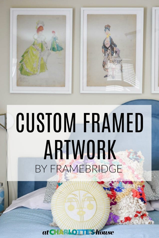 colorful art in custom frame