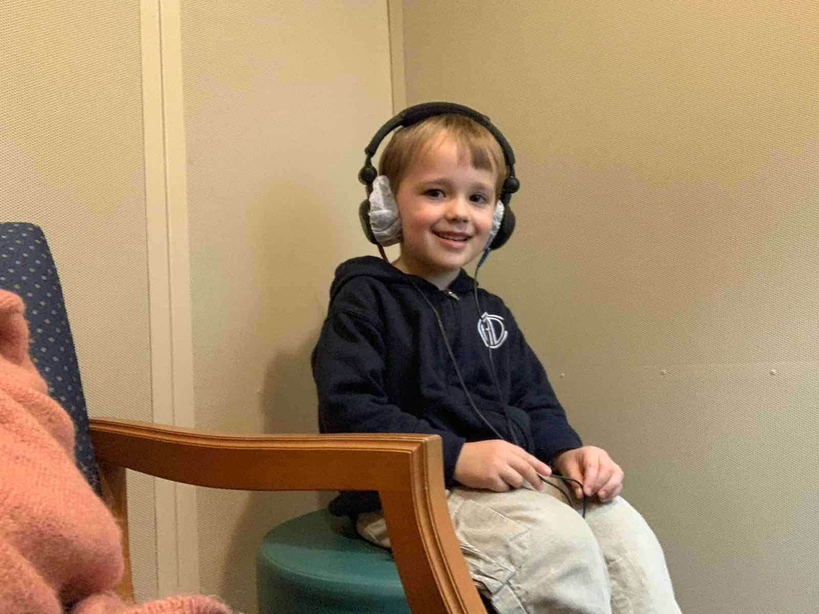 hearing test- One year with ear tubes