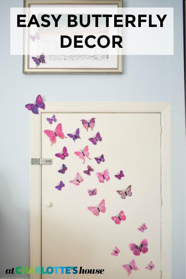 hanging butterflies in eleanor's room
