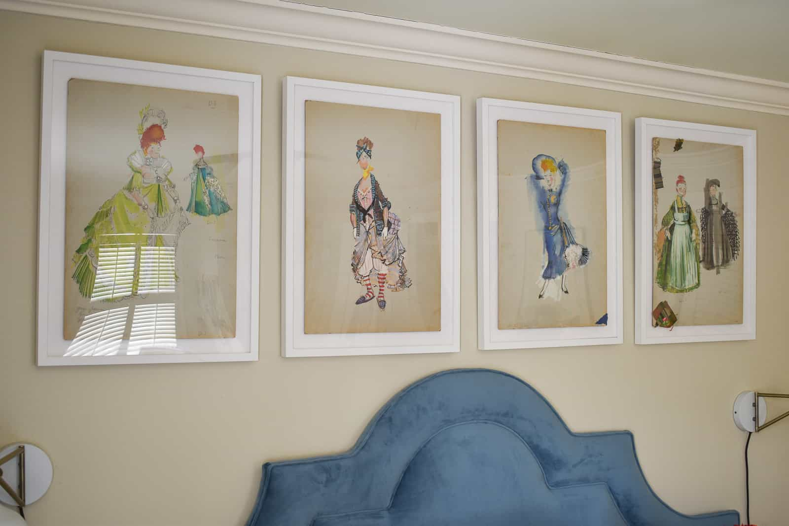how framebridge framed my flea market sketches