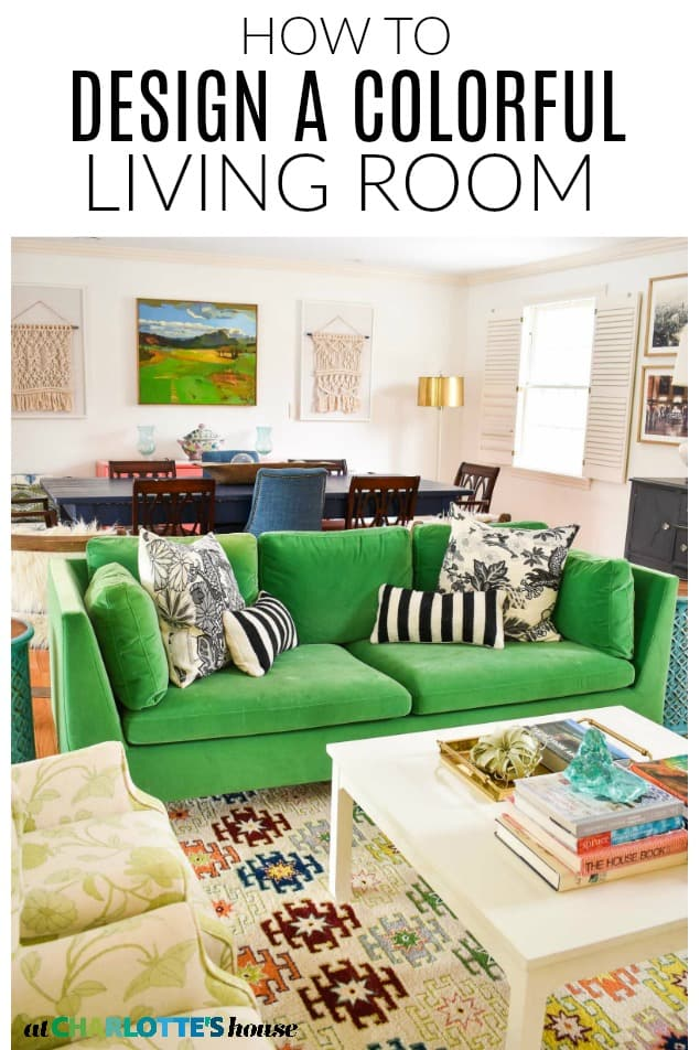 Designing a colorful living room