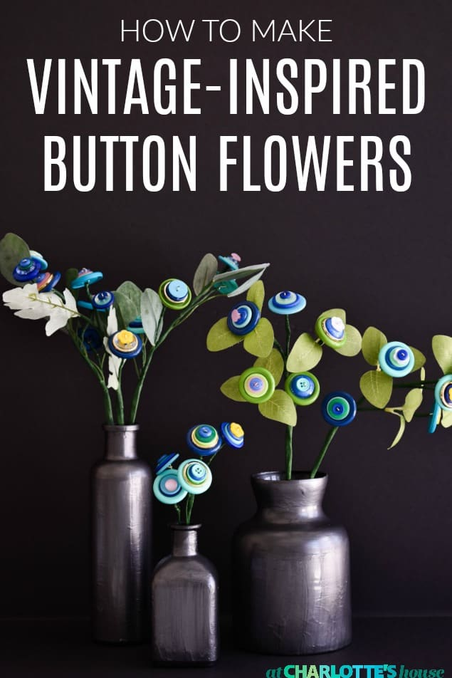 elegant button flowers