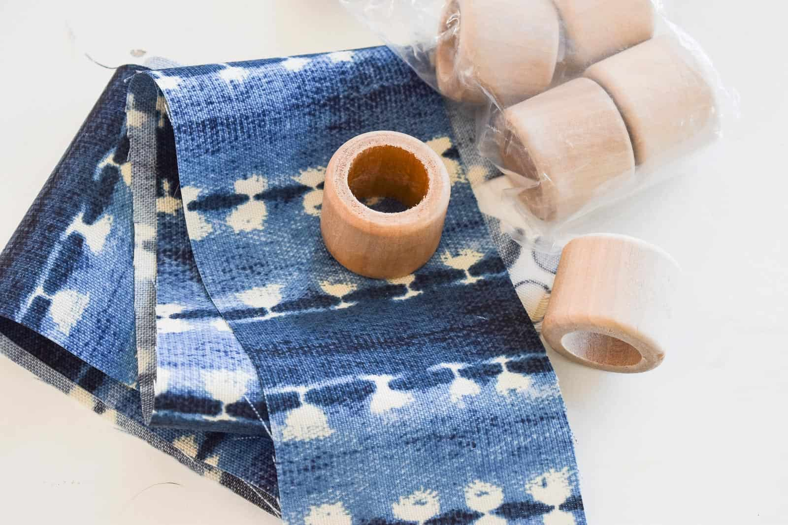 how to make indigo napkin rings