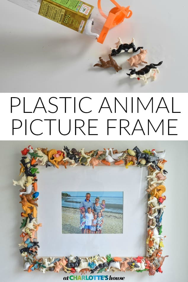 miniature animal picture frame craft