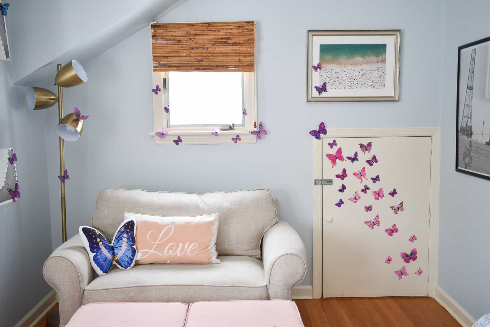 butterfly accent for a girls room