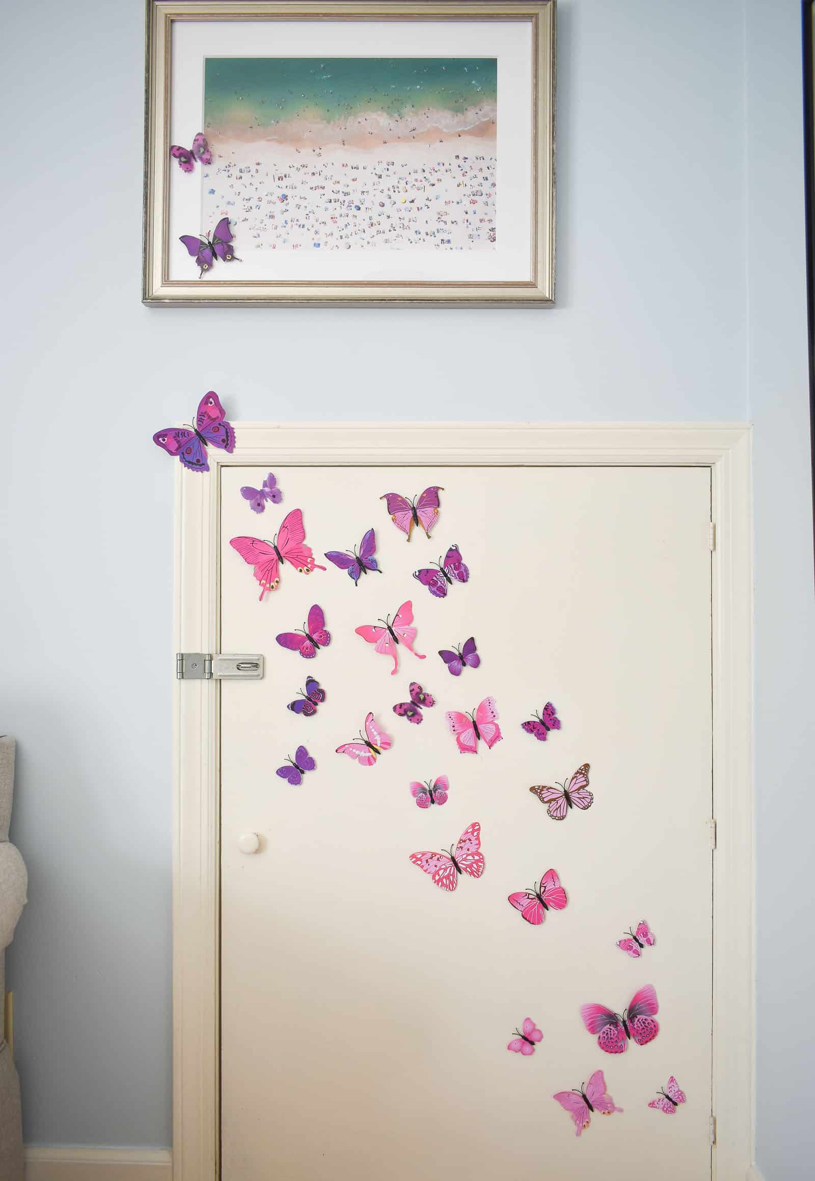 hang larger butterflies first