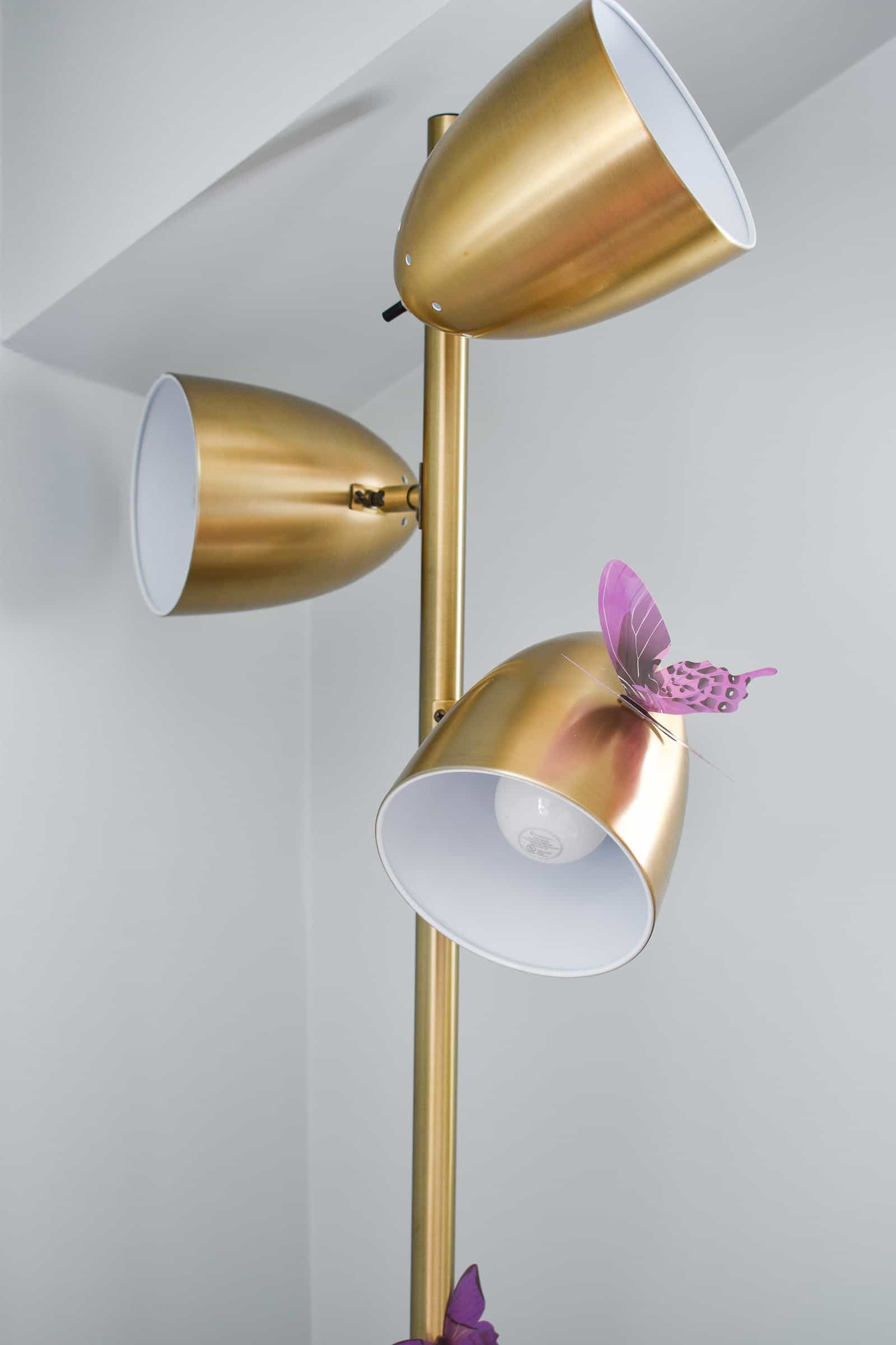 butterfly on a lamp