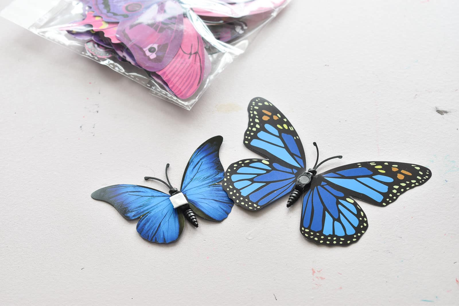 butterflies hung in eleanor's room
