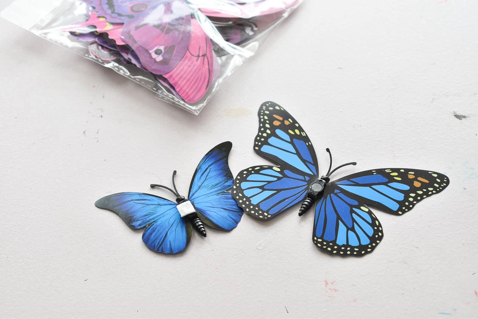 butterflies hung in eleanor's room