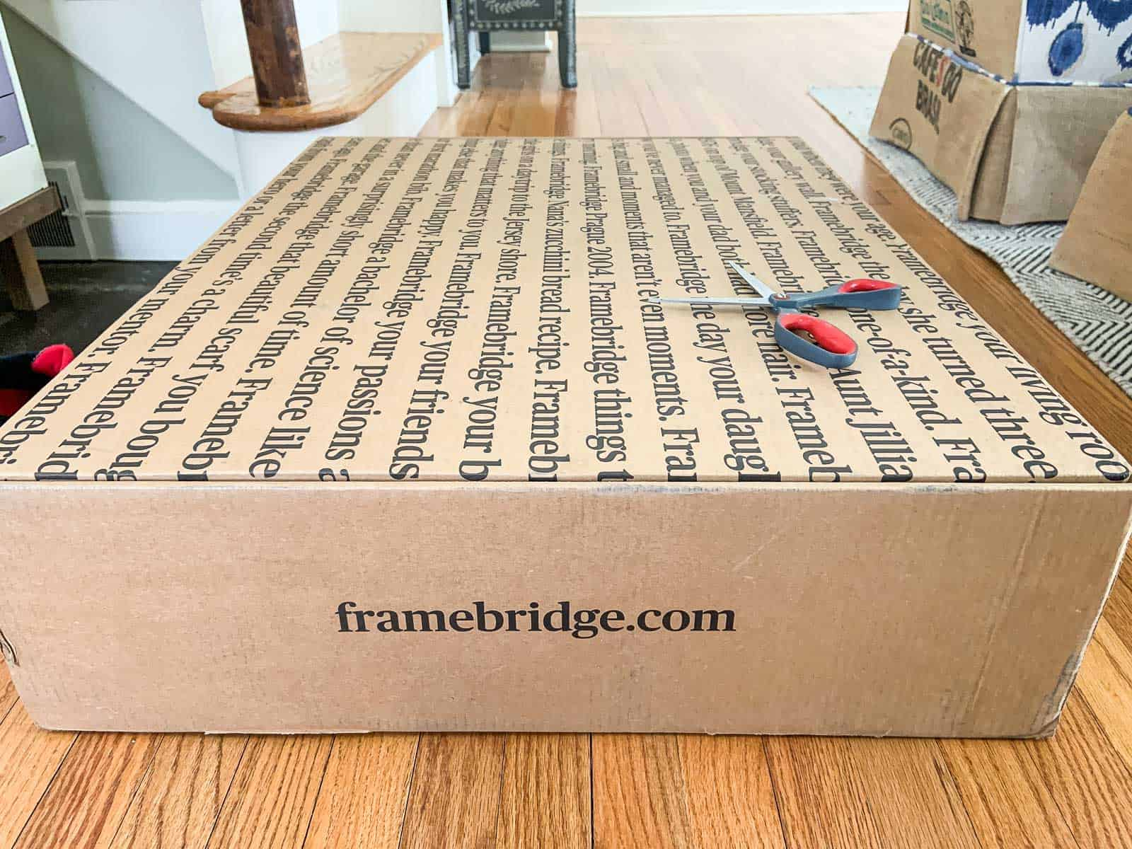framebridge box with artwork